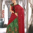 Partywear Raw Silk Exclusive Embroidery Lehenga Sari With Blouse - GW Surbhi B N