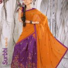 Partywear Raw Silk Exclusive Embroidery Lehenga Sari With Blouse - GW Surbhi A N