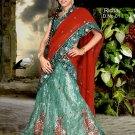 Partywear Net Exclusive Embroidery Lehenga Sari With Blouse - GW Richa N