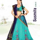 Partywear Raw Silk Exclusive Embroidery Lehenga Sari With Blouse - GW Sushmita N