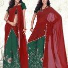 Partywear Faux Georgette Embroidery Lehenga Sari With Blouse - GW Shivani A N