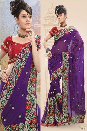 Chiffon Wedding Designer Saris Sarees With Untitch Blouse - ANK - 2025 N