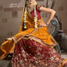 Partywear Crepe Jacquard Embroidery Lehenga Sari With Blouse - GW Zarina-01D N