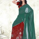 Partywear Faux Georgette Embroidery Lehenga Sari With Blouse - GW Shivani C N