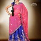 Partywear Crepe Jacquard Embroidery Lehenga Sari With Blouse - GW Zarina-03E N
