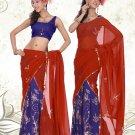 Partywear Faux Georgette Embroidery Lehenga Sari With Blouse - GW Shivani D N