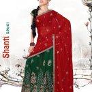 Partywear Faux Georgette Embroidery Lehenga Sari With Blouse - GW Shanti N