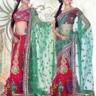 Partywear Net Exclusive Embroidery Lehenga Sari With Blouse - GW PC714 N