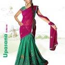 Partywear Faux Georgette Embroidery Lehenga Sari With Blouse - GW Upashana N