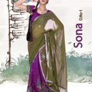 Partywear Faux Georgette Embroidery Lehenga Sari With Blouse - GW Sona N
