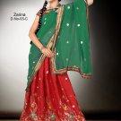 Partywear Crepe Jacquard Embroidery Lehenga Sari With Blouse - GW Zarina-03C N
