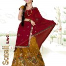Partywear Faux Georgette Embroidery Lehenga Sari With Blouse - GW Sonali N