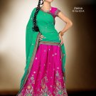 Partywear Crepe Jacquard Embroidery Lehenga Sari With Blouse - GW Zarina-03A N