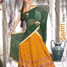 Partywear Faux Georgette Embroidery Lehenga Sari With Blouse - GW Savitri N