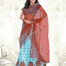 Partywear Net Simmer Exclusive Embroidery Lehenga Sari With Blouse - GW Rimmy N