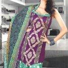 Shalwar & Salwar Kameez Dress Jacquard Satin Casual With Dupatta - X 10 N