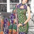Shalwar & Salwar Kameez Dress Jacquard Satin Casual With Dupatta - X 07 N