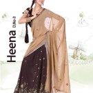 Partywear Faux Georgette Embroidery Lehenga Sari With Blouse - GW Heena C N