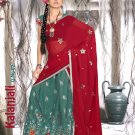 Partywear Faux Georgette Embroidery Lehenga Sari With Blouse - GW Kalanjali N