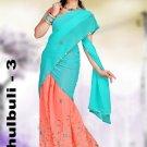 Partywear Faux Georgette Embroidery Lehenga Sari With Blouse - GW Chulbulli C N