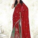 Partywear Faux Georgette Embroidery Lehenga Sari With Blouse - GW Komal N