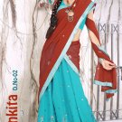 Partywear Faux Georgette Embroidery Lehenga Sari With Blouse - GW Ankita N