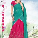 Partywear Faux Georgette Embroidery Lehenga Sari With Blouse - GW Chulbulli D N