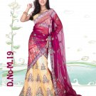 Partywear Net Exclusive Embroidery Lehenga Sari With Blouse - GW M19 N