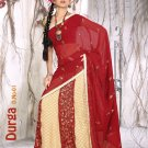 Partywear Viscose Exclusive Embroidery Lehenga Sari With Blouse- GW Durga N