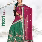 Partywear Faux Georgette Embroidery Lehenga Sari With Blouse - GW Noori N