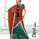 Partywear Faux Georgette Embroidery Lehenga Sari With Blouse - GW Devi N