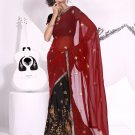 Partywear Faux Crepe Exclusive Embroidery Lehenga Sari With Blouse- GW Laxmi A N