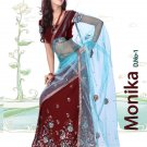 Partywear Faux Georgette Embroidery Lehenga Sari With Blouse - GW Monika N