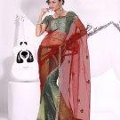 Partywear Net Tissue Exclusive Embroidery Lehenga Sari With Blouse - GW Meena N