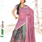 Partywear Paper Silk Exclusive Embroidery Lehenga Sari With Blouse - GW 5Star N