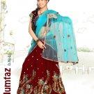 Partywear Tissue Georgette Embroidery Lehenga Sari With Blouse - GW Mumtaz A N