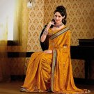 Faux Crepe Casual Designer Embroidered  Sarees Sari With Blouse - X 130B N