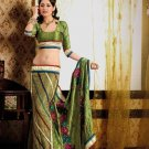 Faux Crepe Casual Designer Embroidered  Sarees Sari With Blouse - X 135A N