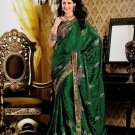 Faux Crepe Casual Designer Embroidered  Sarees Sari With Blouse - X 128A N