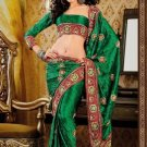 Faux Crepe Casual Designer Embroidered  Sarees Sari With Blouse - X 139A N