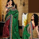 Faux Crepe Casual Designer Embroidered  Sarees Sari With Blouse - X 132A N