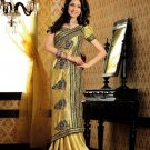 Faux Crepe Casual Designer Embroidered  Sarees Sari With Blouse - X 121A N