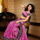 Faux Crepe Casual Designer Embroidered  Sarees Sari With Blouse - X 125A N