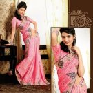 Faux Crepe Casual Designer Embroidered  Sarees Sari With Blouse - X 131A N