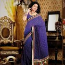 Faux Georgette Casual Designer Embroidered  Sarees Sari With Blouse - X 134A N