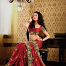 Faux Crepe Casual Designer Embroidered  Sarees Sari With Blouse - X 139B N
