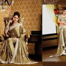 Faux Crepe Casual Designer Embroidered  Sarees Sari With Blouse - X 126A N