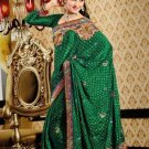 Faux Crepe Casual Designer Embroidered  Sarees Sari With Blouse - X 133A N