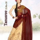 Faux Georgette PartyWear Embroidered Lehenga Sari With Blouse - GW Tanushree A