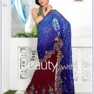 Wedding Faux Georgette Designer Embroidery Sari Saree With Blouse - TS 27015 N